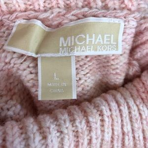 Michael Kors Womens Large pink Turtleneck Sweater
